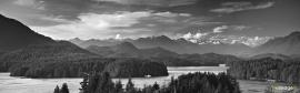 Panoramic view of Tofino, Vancouver Island, Canada